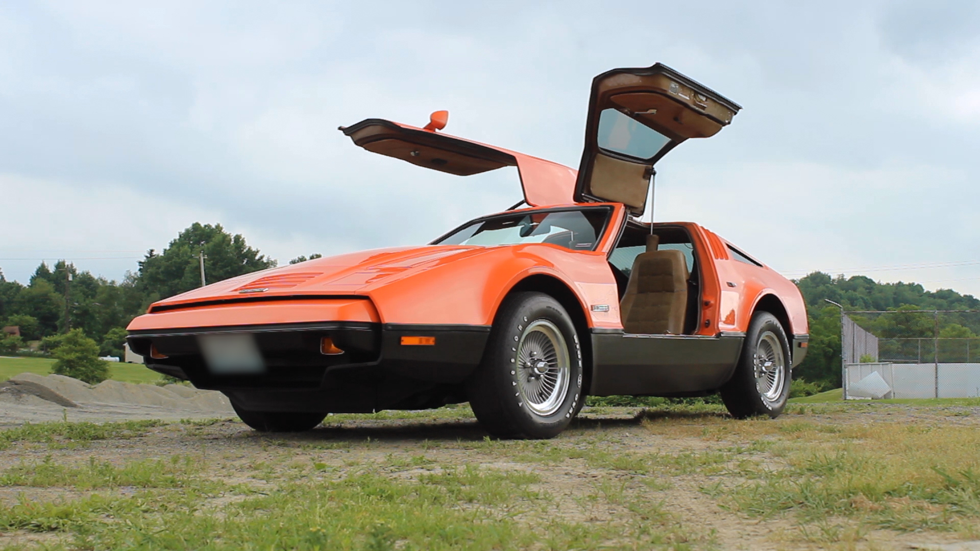 bricklin front three-quarter doors raised