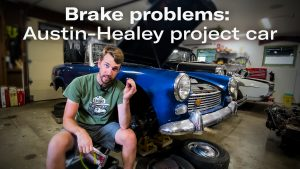 Bleeding the hydraulic system: Austin-Healey project car | Kyle's Garage – Ep. 13