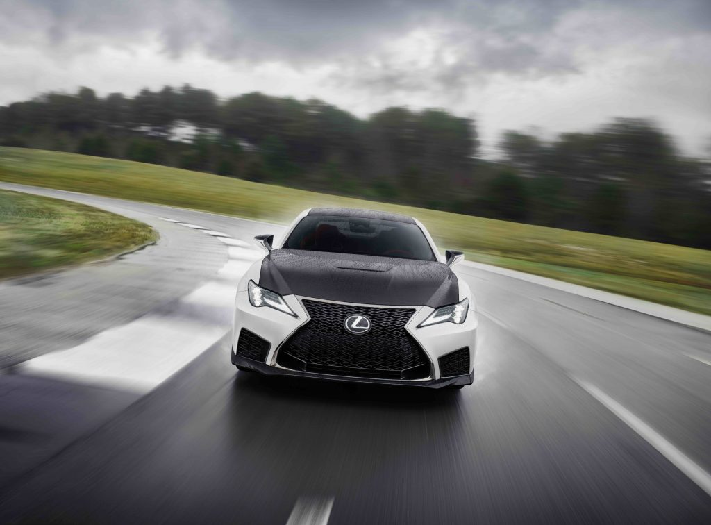 2021 Lexus RC F Fuji Speedway head on on track
