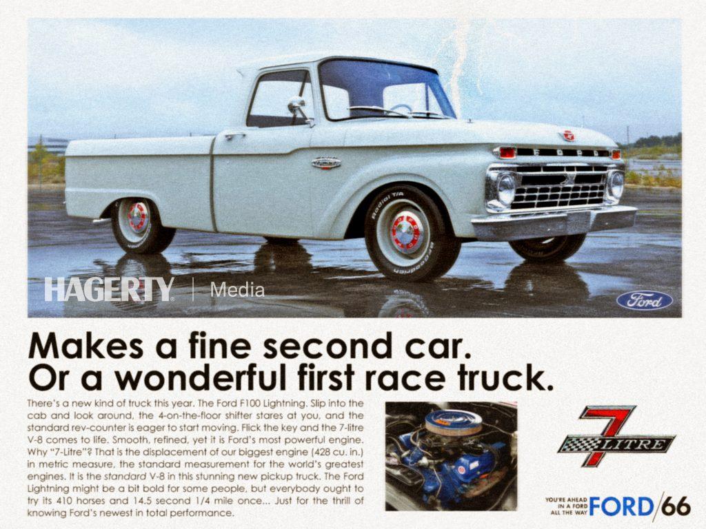 Lightning F100 concept prototype visual vintage ad mockup