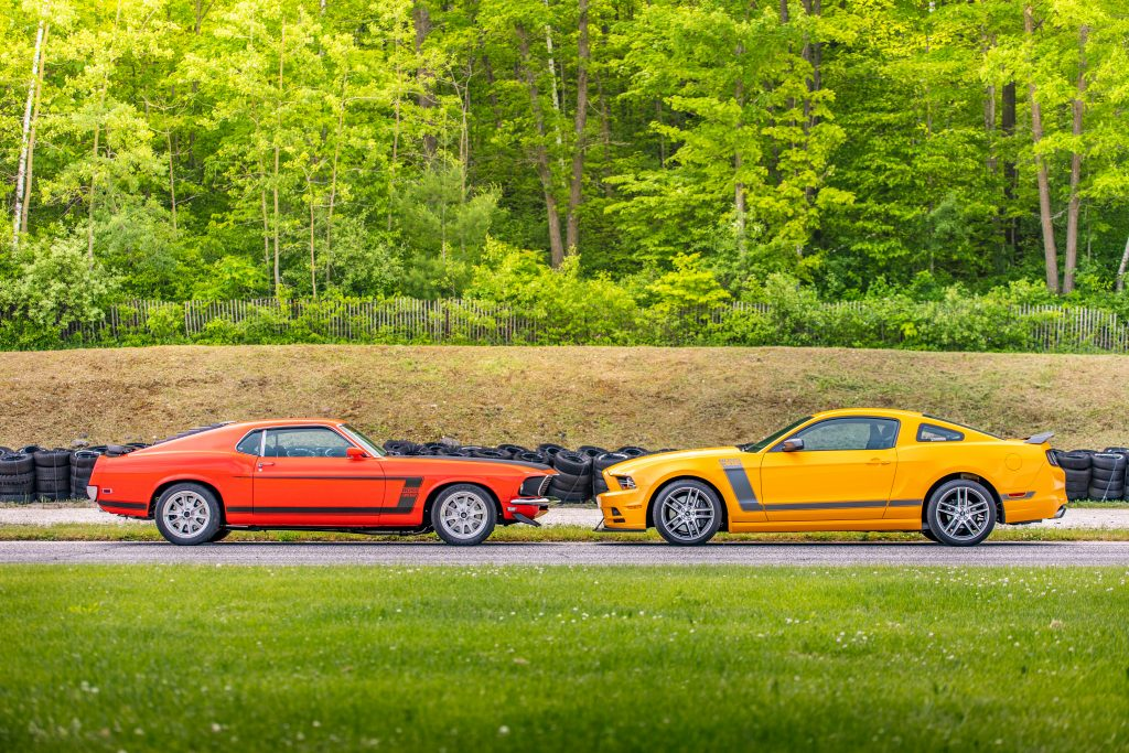 ford mustang boss 302 new vs old head to head