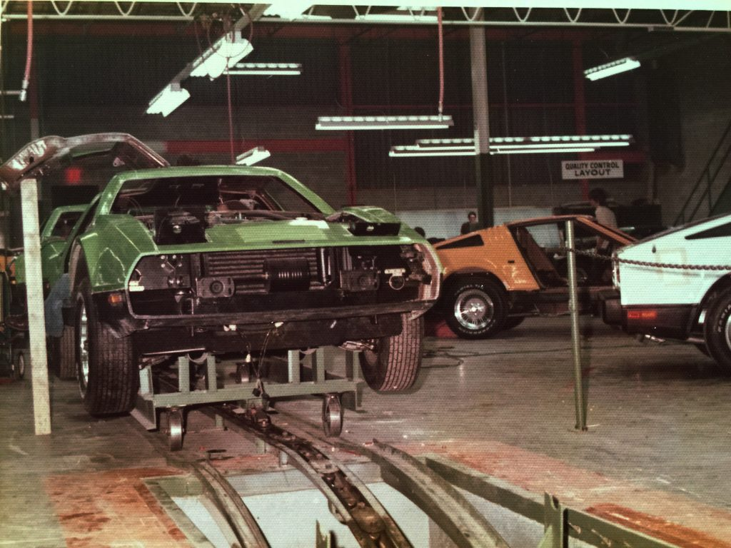 Bricklin SV-1s on assembly line