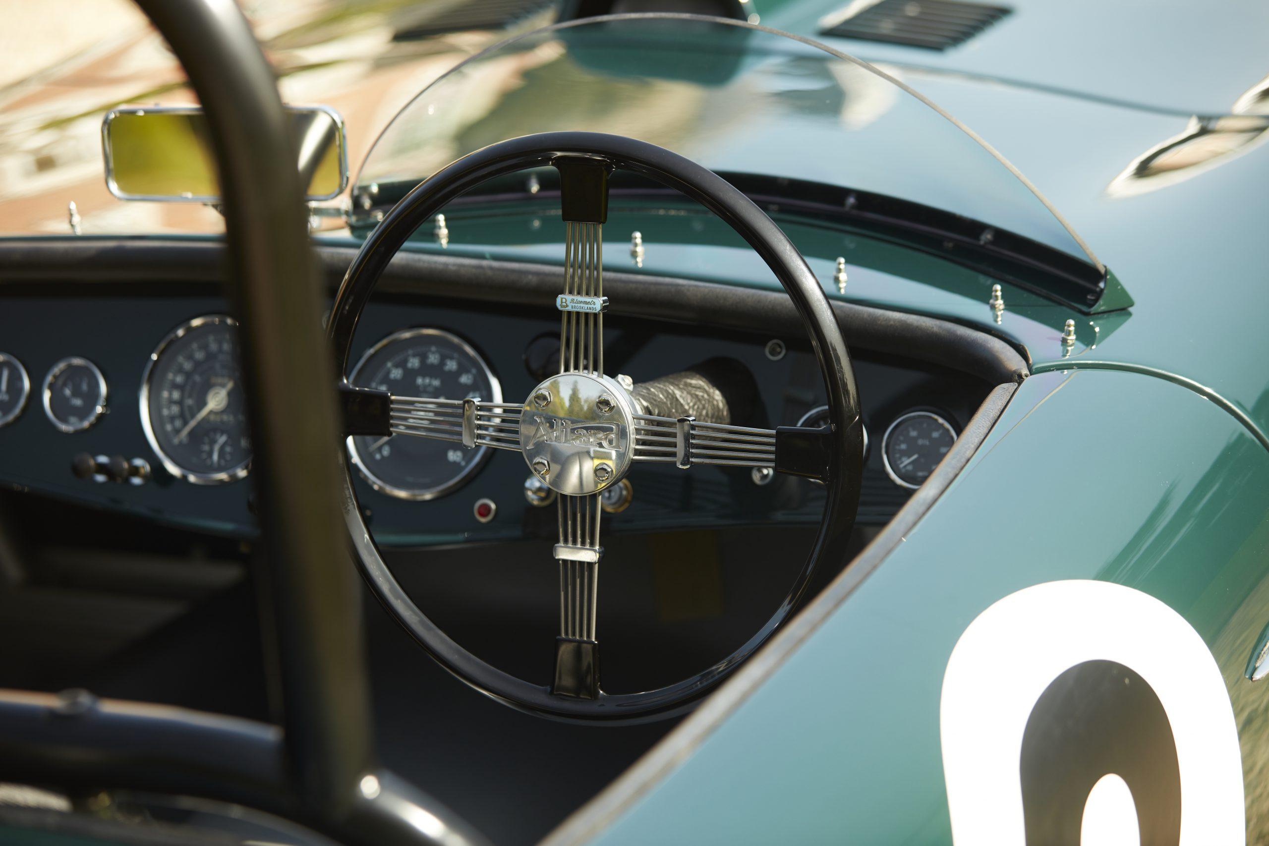 Allard Motor Company JR Continuation steering wheel detail