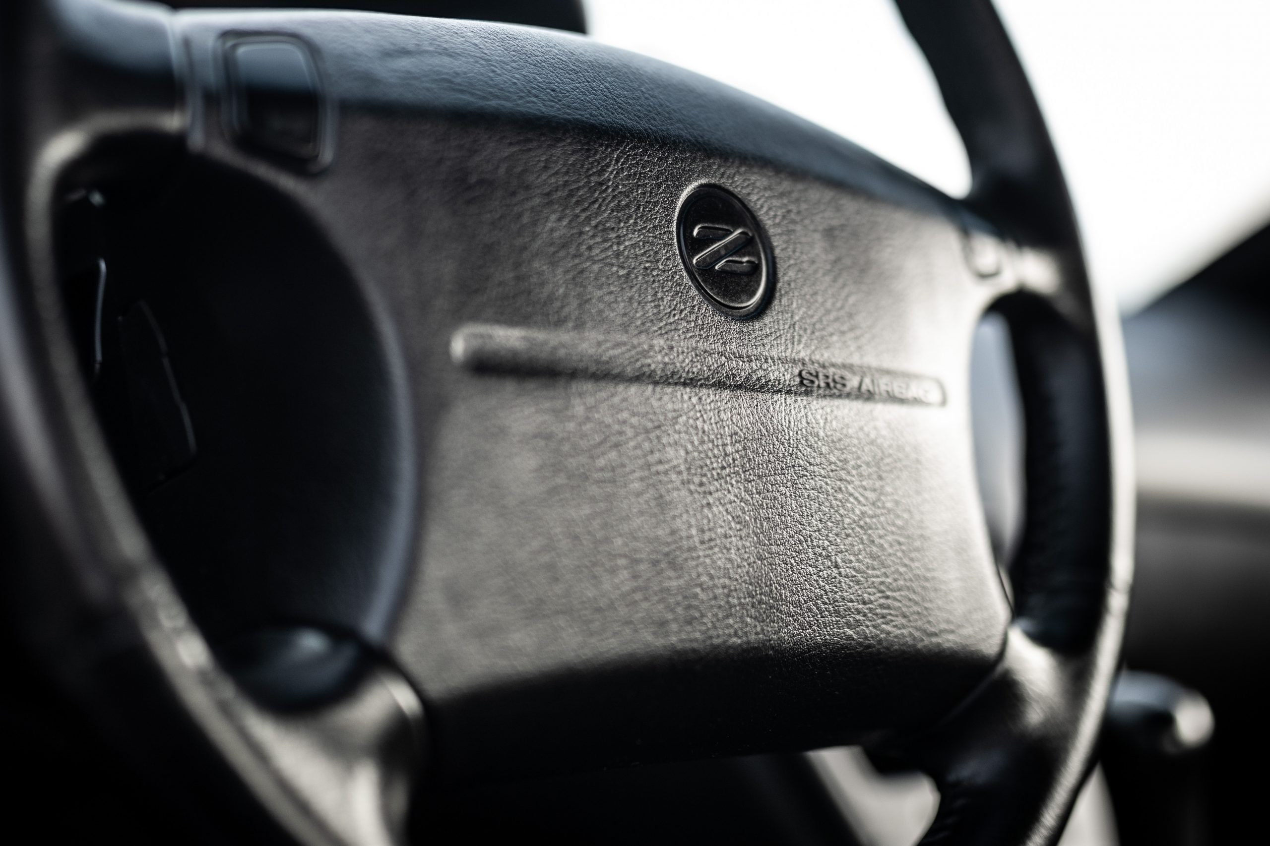 Nissan 300ZX steering wheel detail