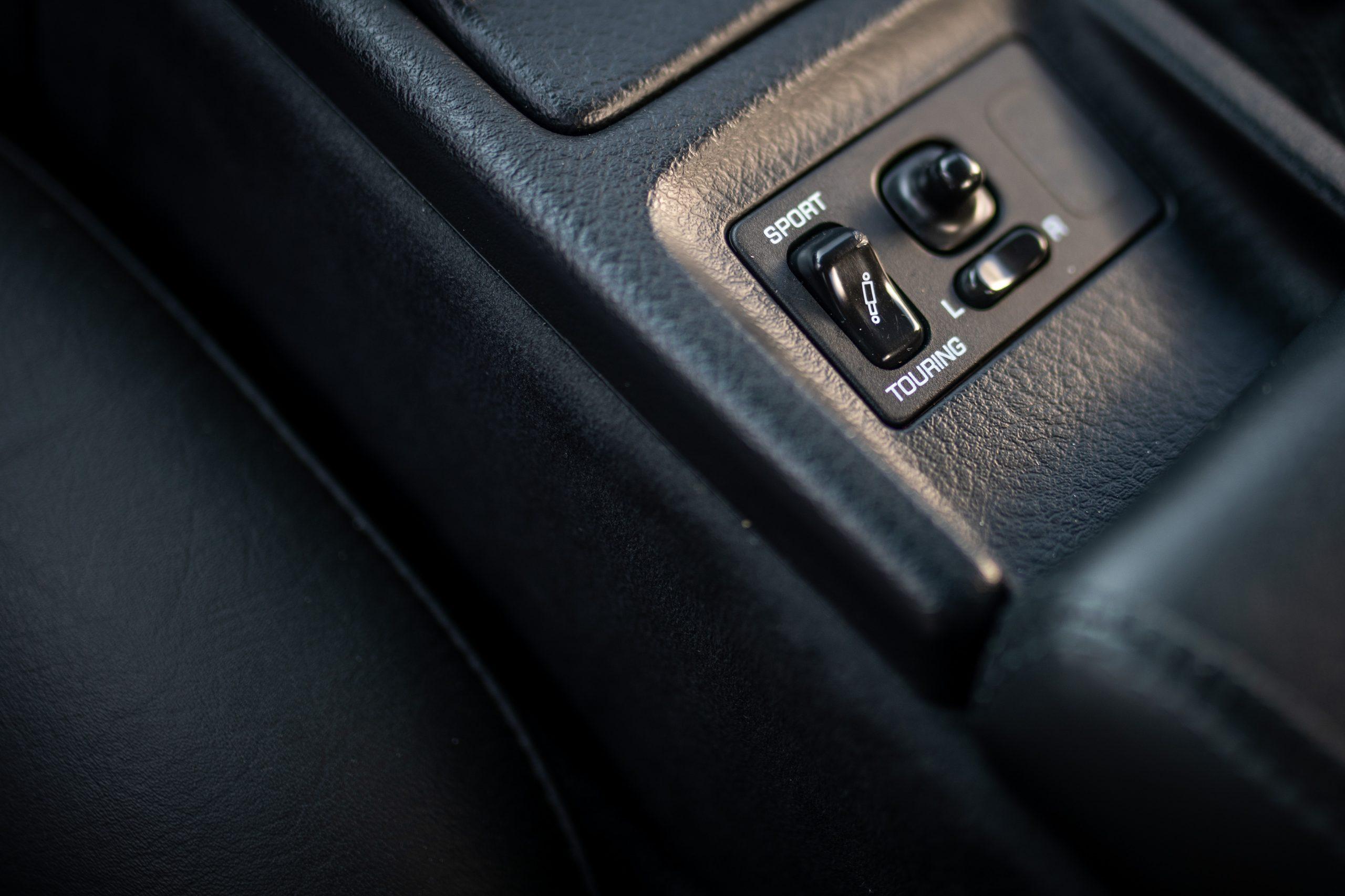 Nissan 300ZX drive modes button detail