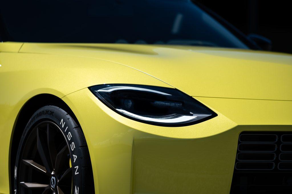 nissan new z car prototype headlight detail