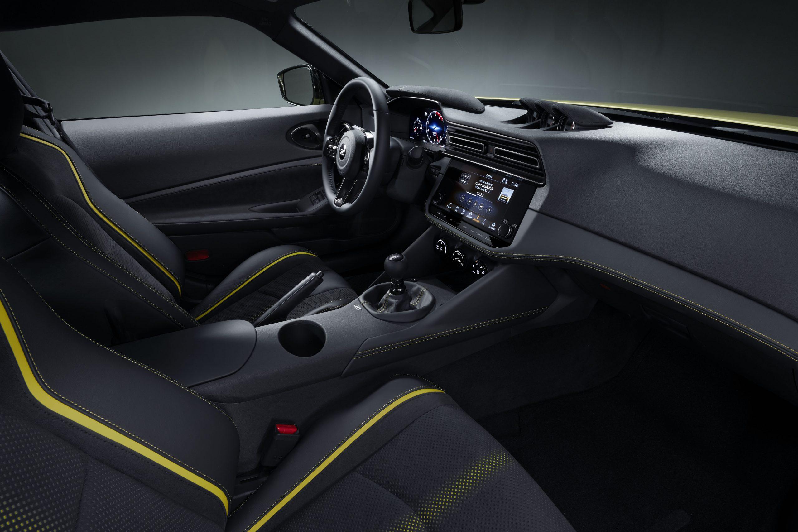 nissan new z car prototype side interior