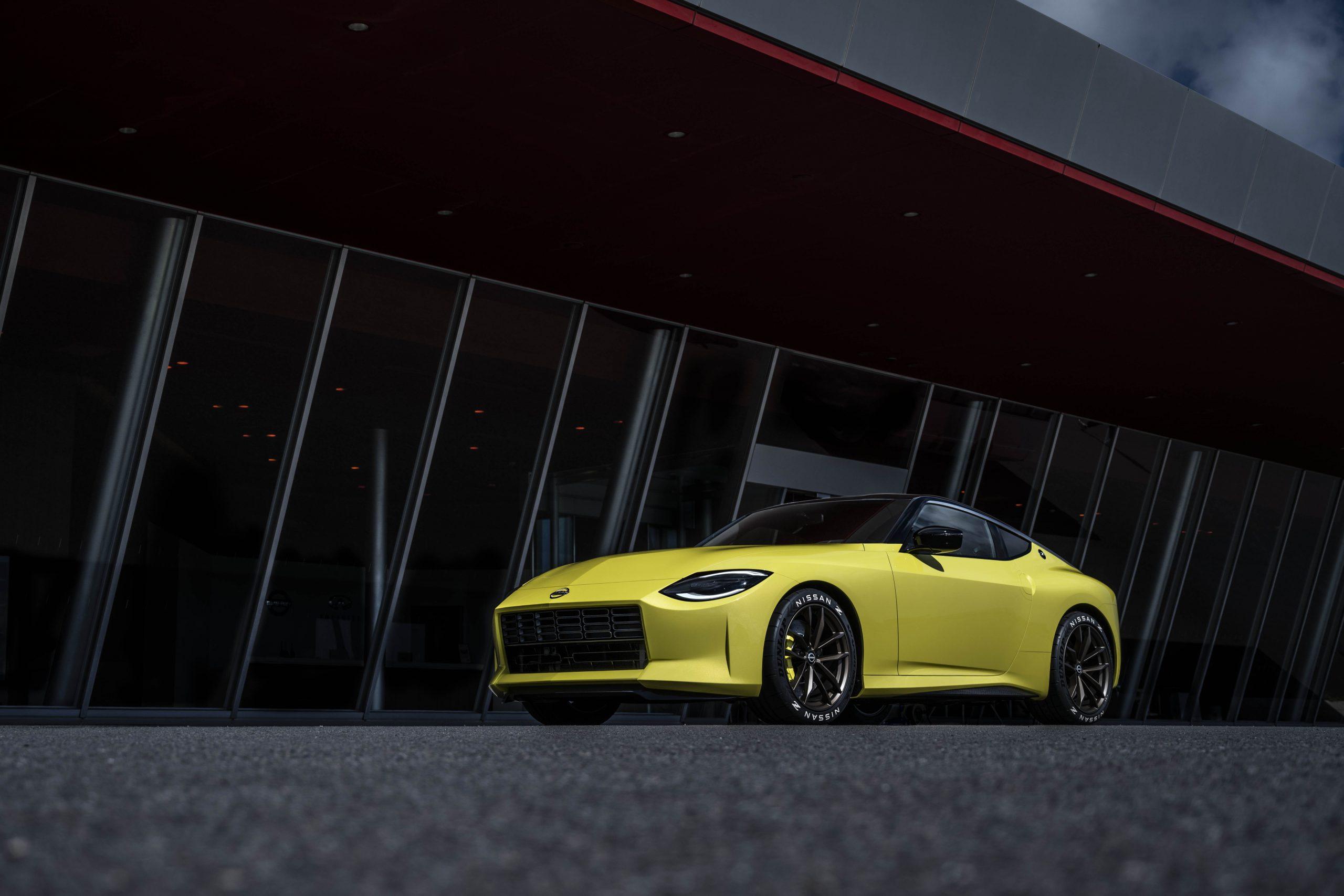 nissan new z car prototype front three-quarter