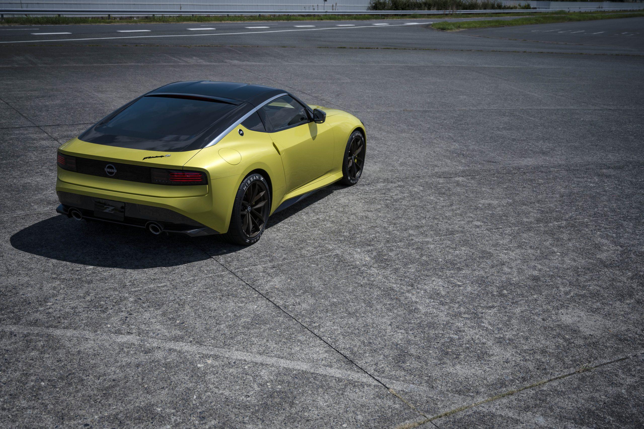 nissan new z car prototype rear three-quarter