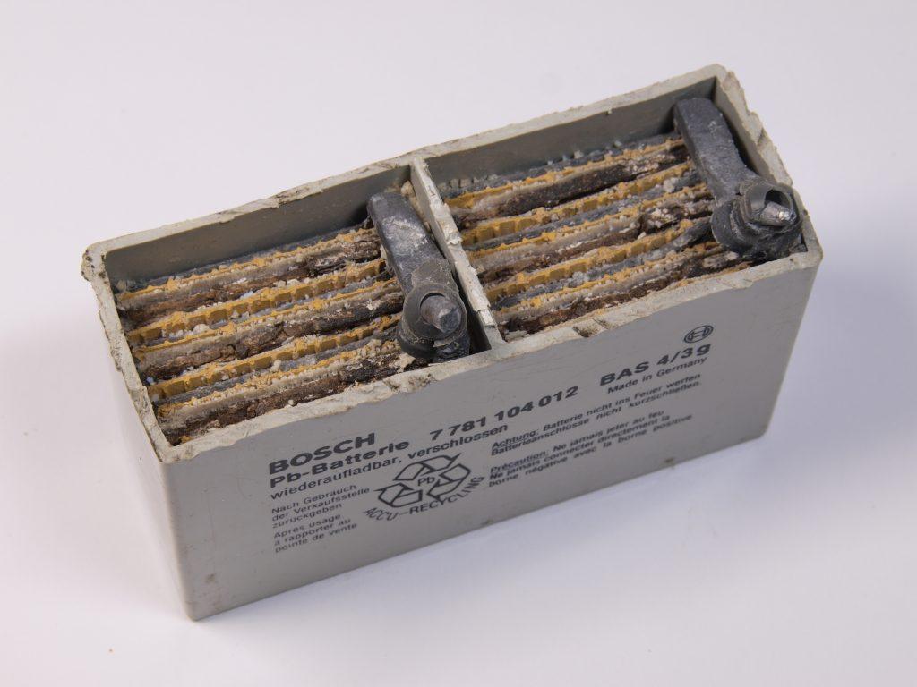 Inside AGM battery