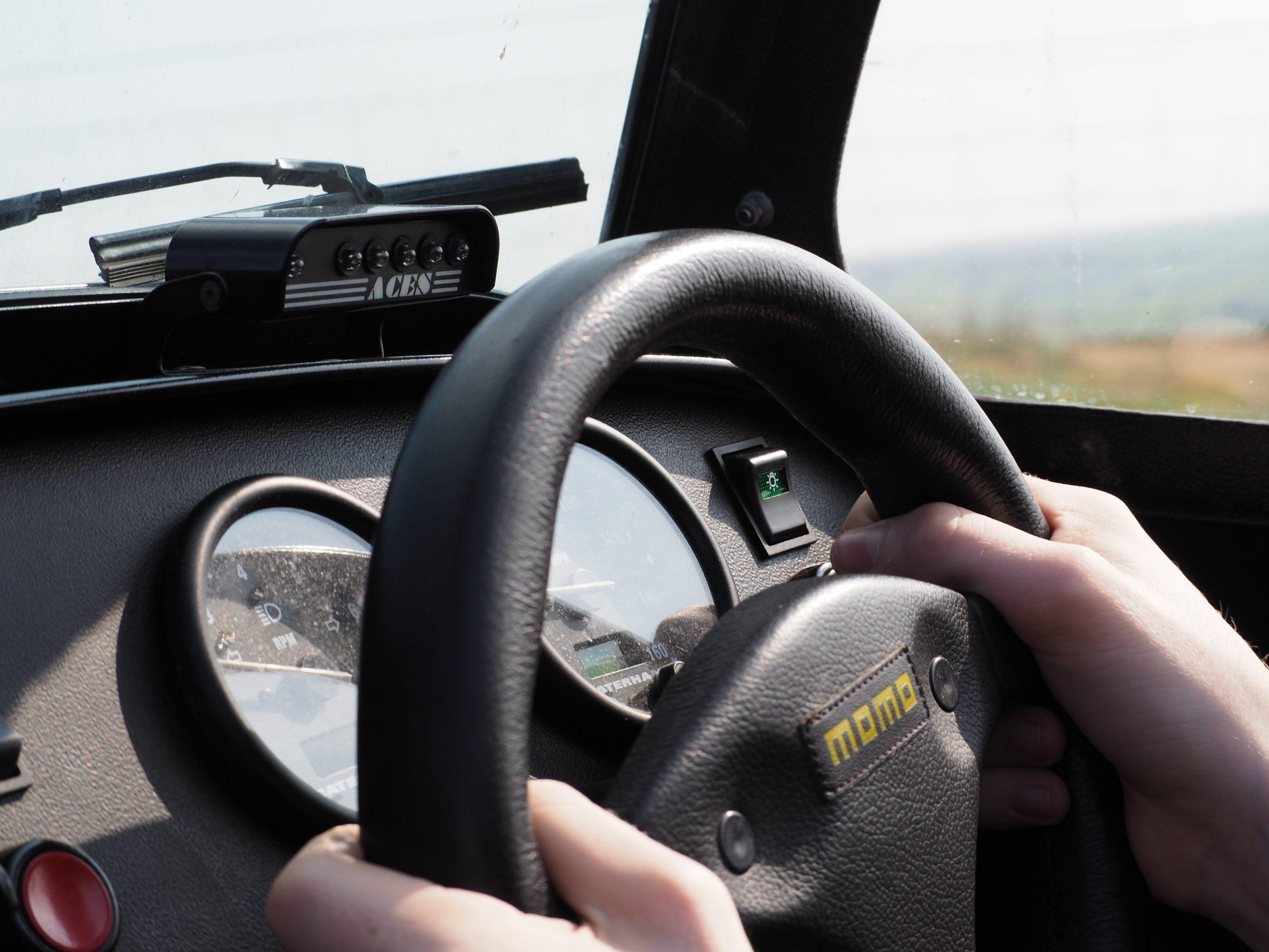Caterham steering closeup