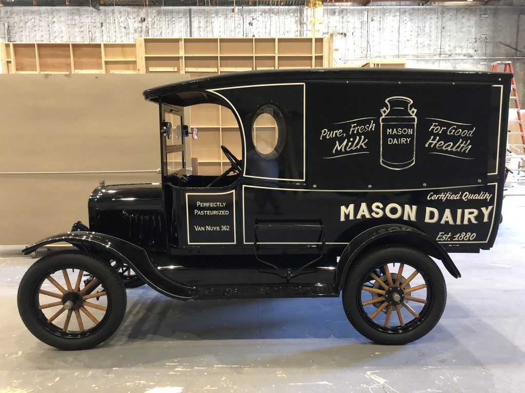 perry mason milktruck ford model t prop car side profile