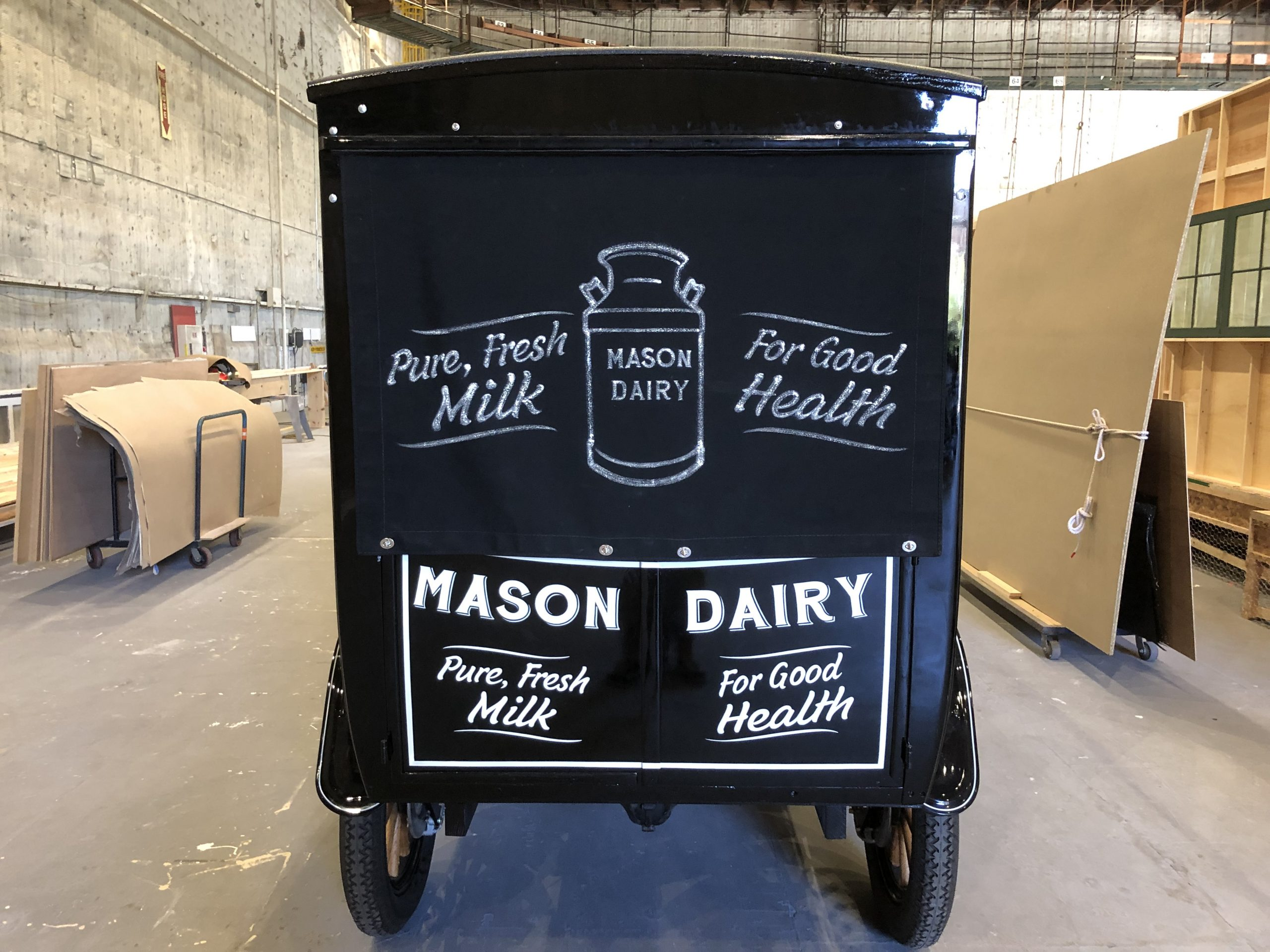 perry mason milktruck ford model t prop car rear