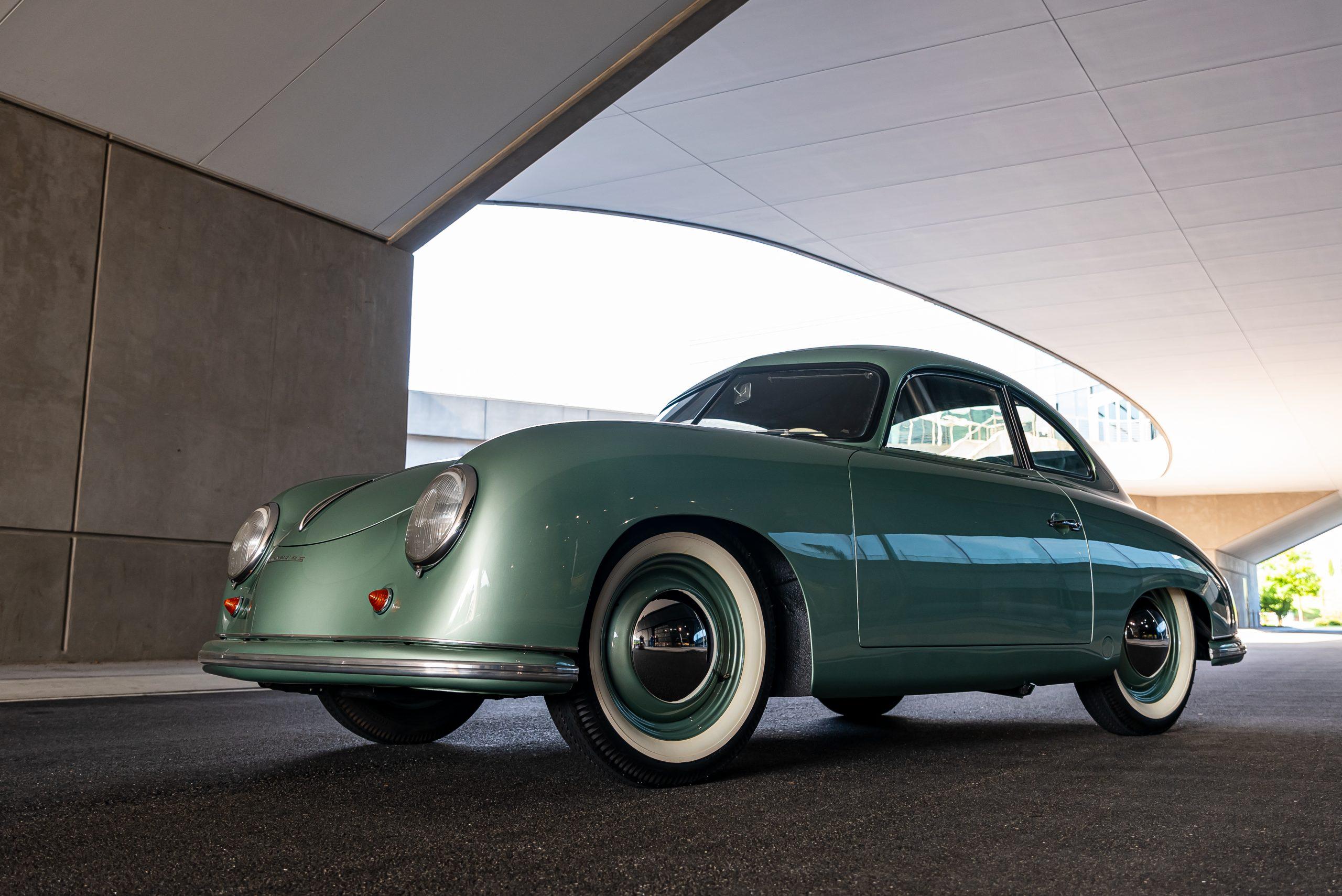 1950 porsche 356 1-1-liter coupe in radium green