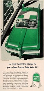 Quaker State Oil Green Packard Predictor Ad