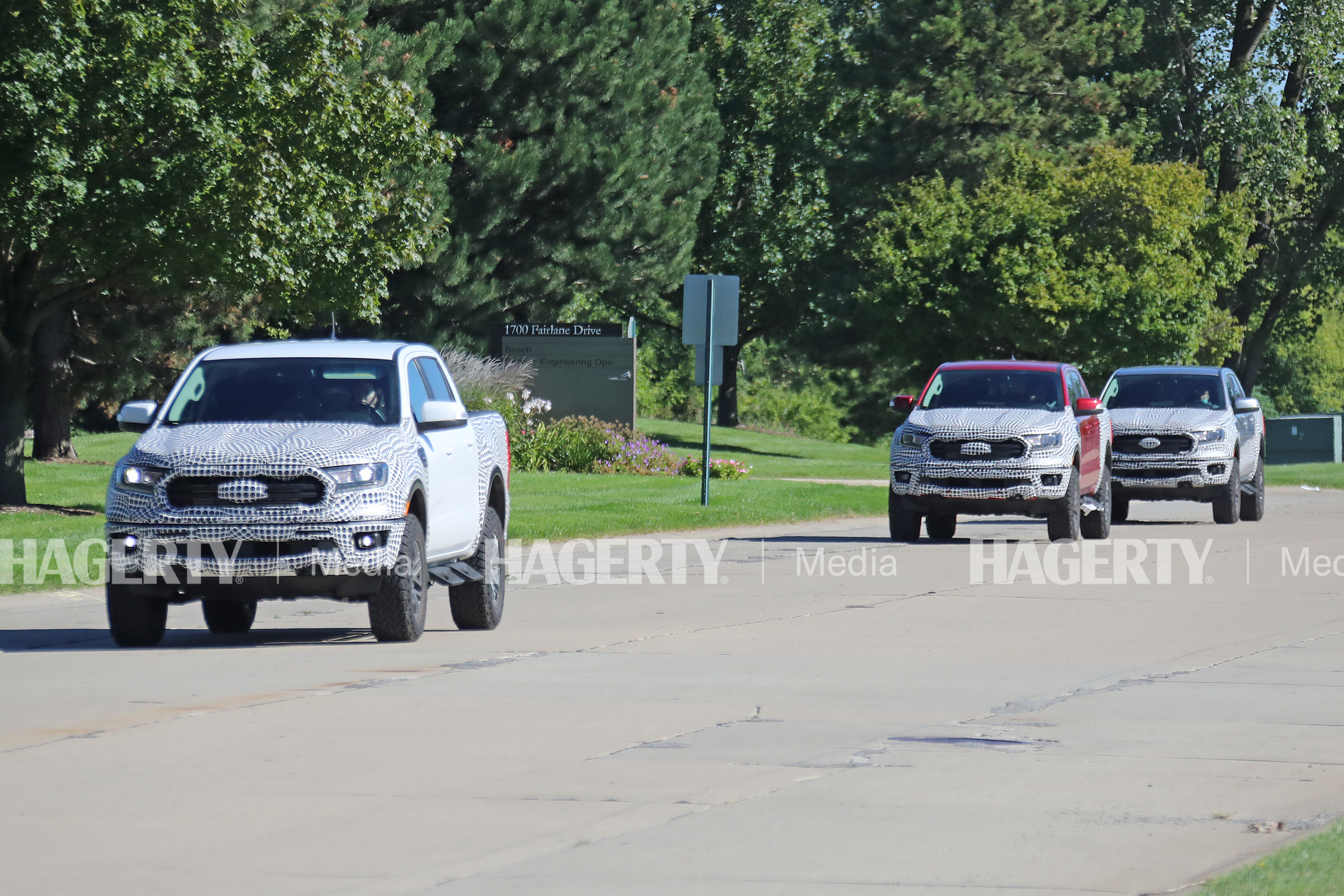 ford ranger tremor spy photo three truck fronts