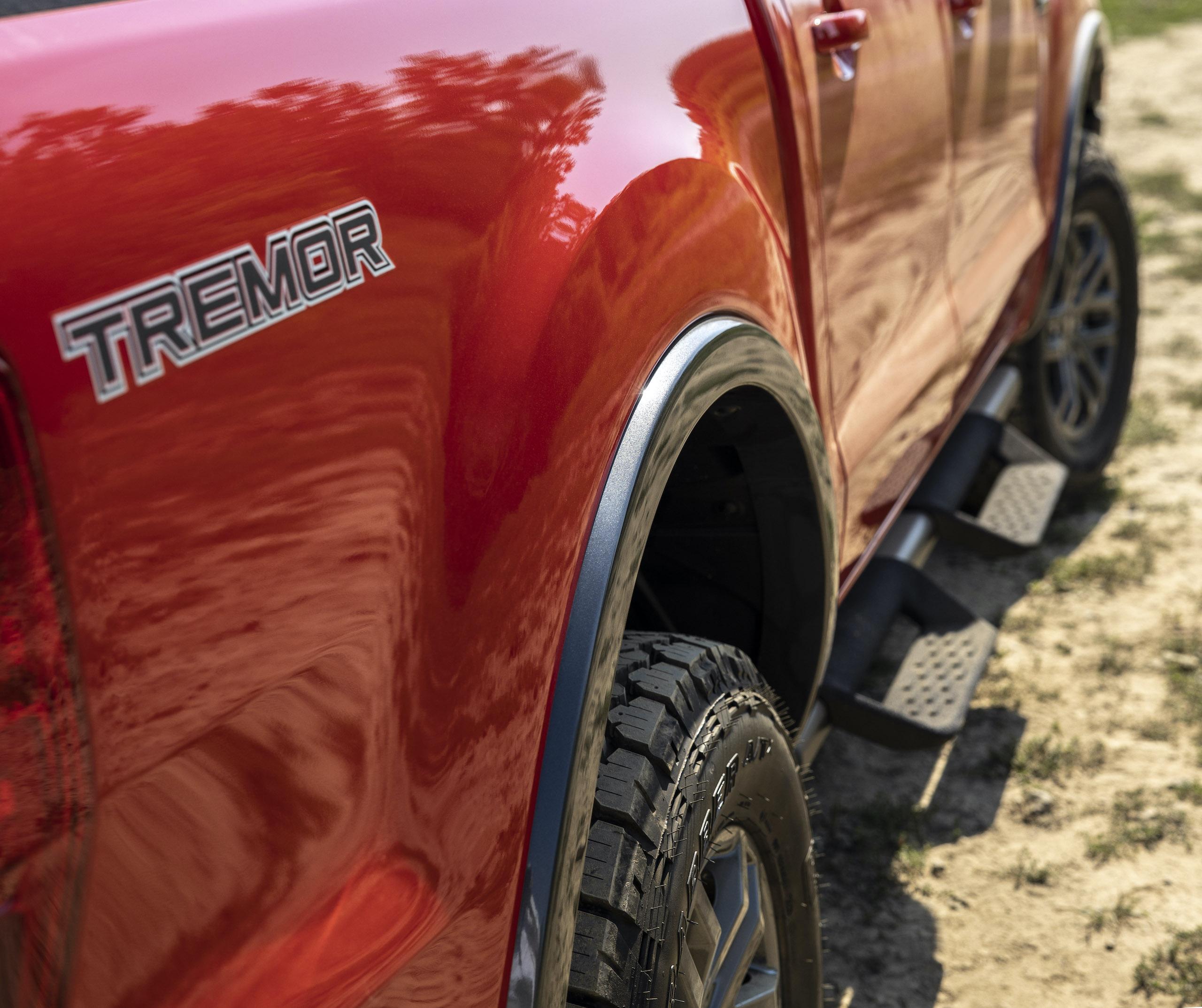 Ranger Tremor Lariat rear quarter panel tremor logo