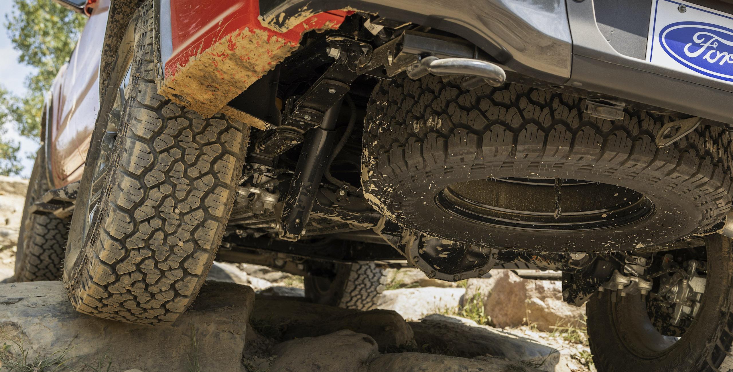 Ranger Tremor Lariat underside rear spare tire suspension
