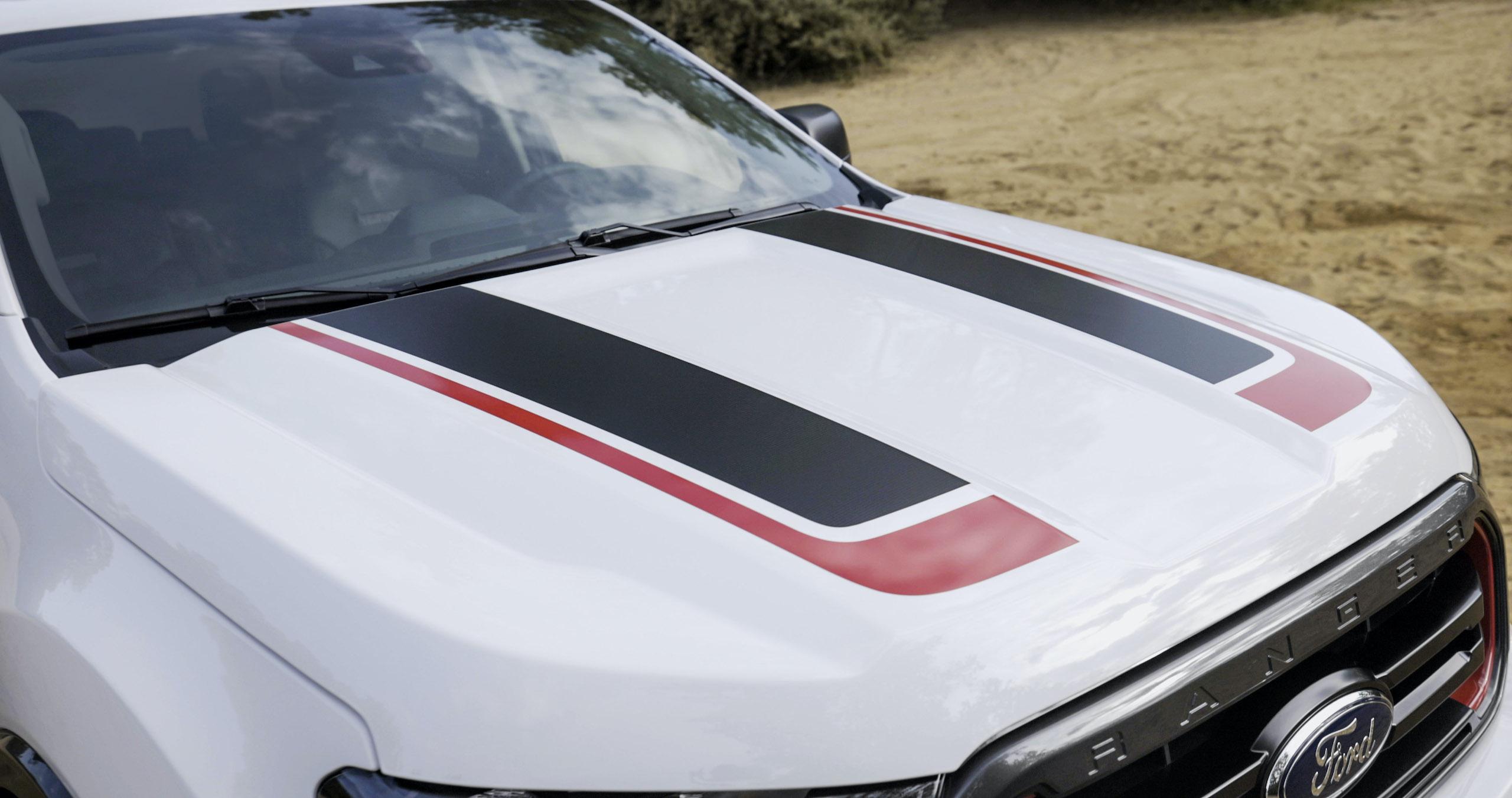 Ranger Tremor XLT hood stripes