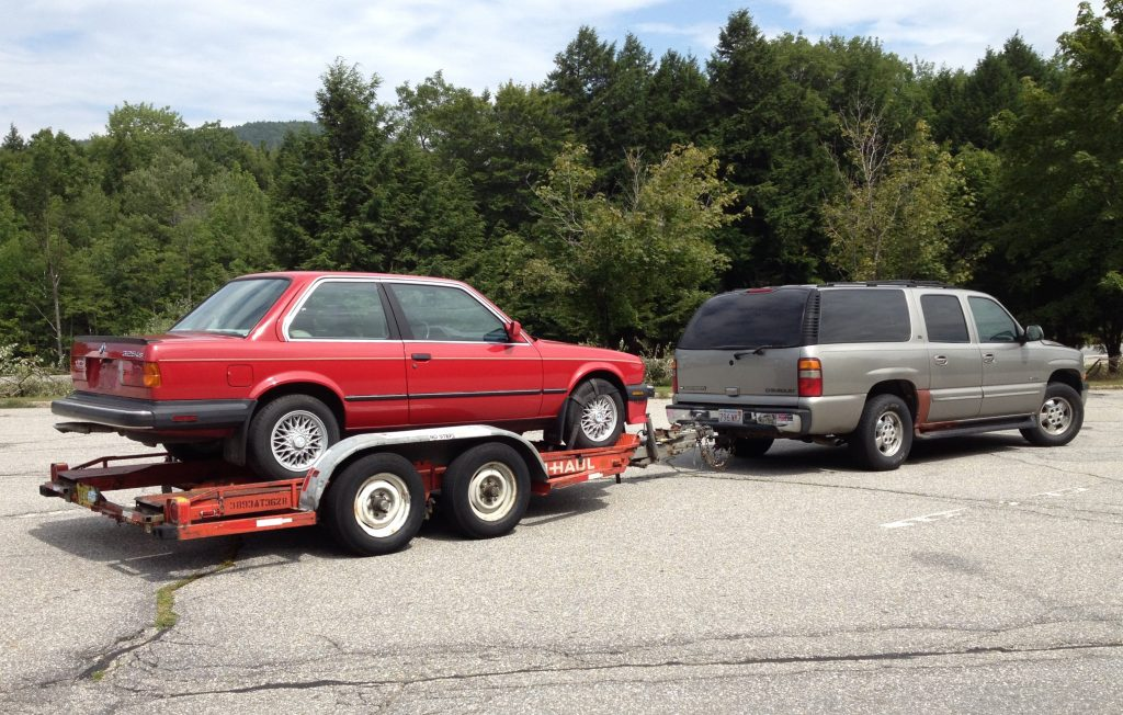 Rob Siegel - The Trade - 1987 BMW 325is on trailer