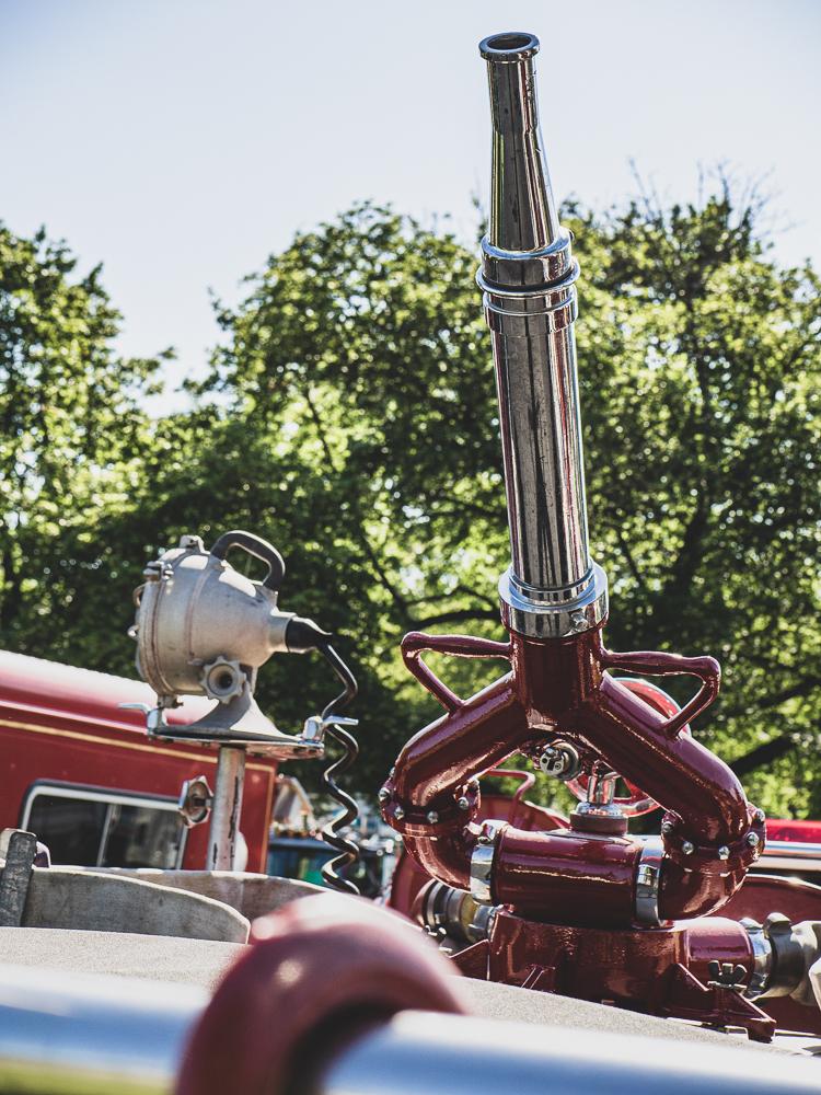 vintage firetruck hose gun detail