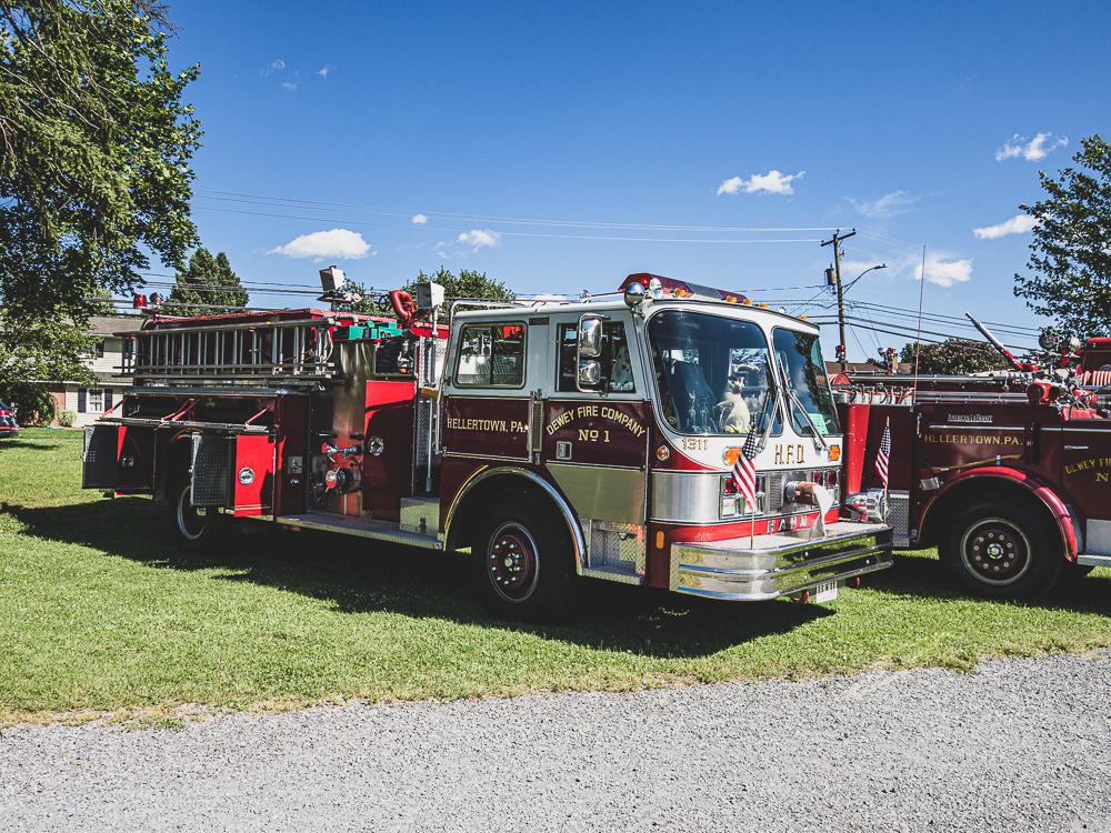 front three-quarter dewey firetruck
