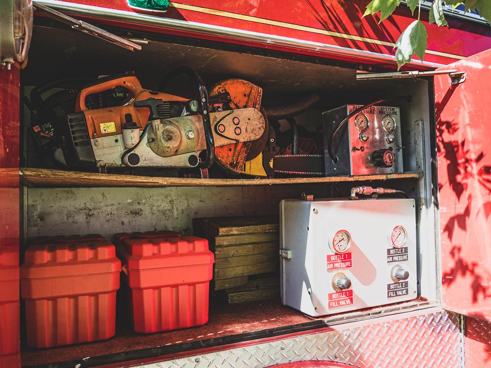 firetruck tool locker detail