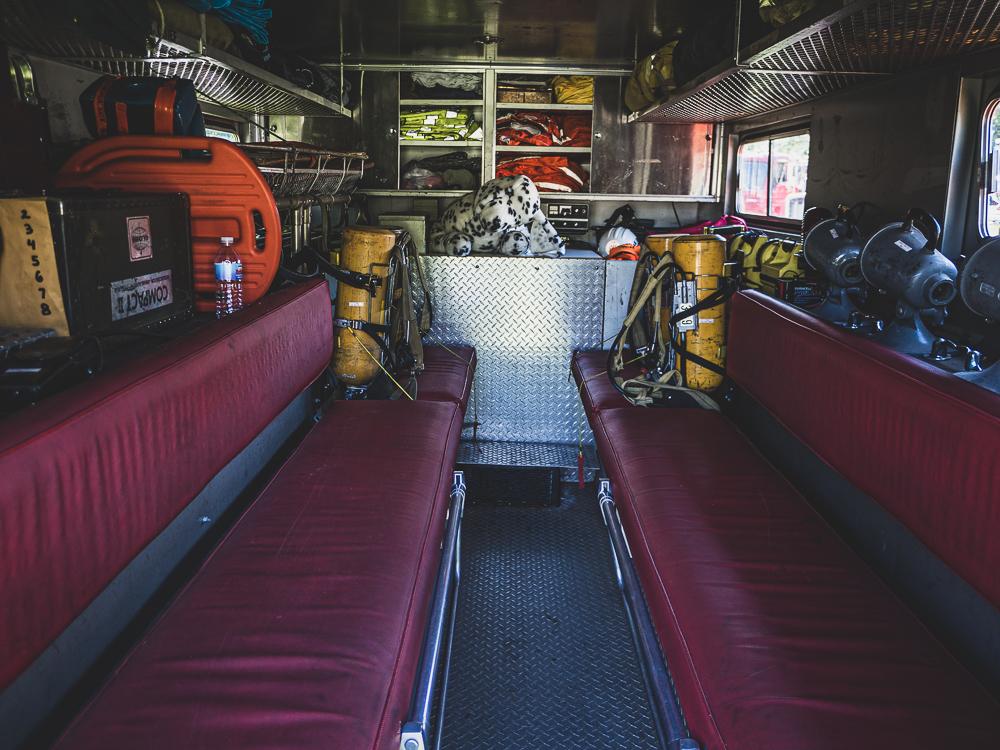 firetruck interior seating