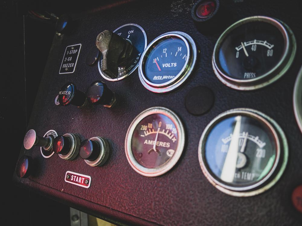 firetruck interior gauges