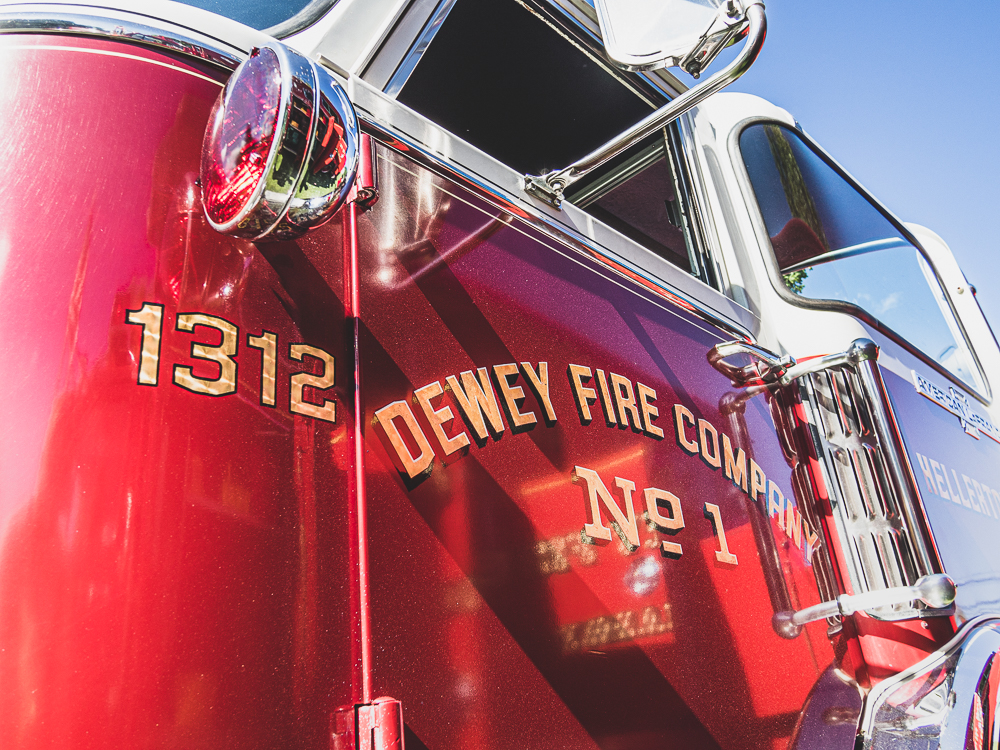 dewey fire company door detail