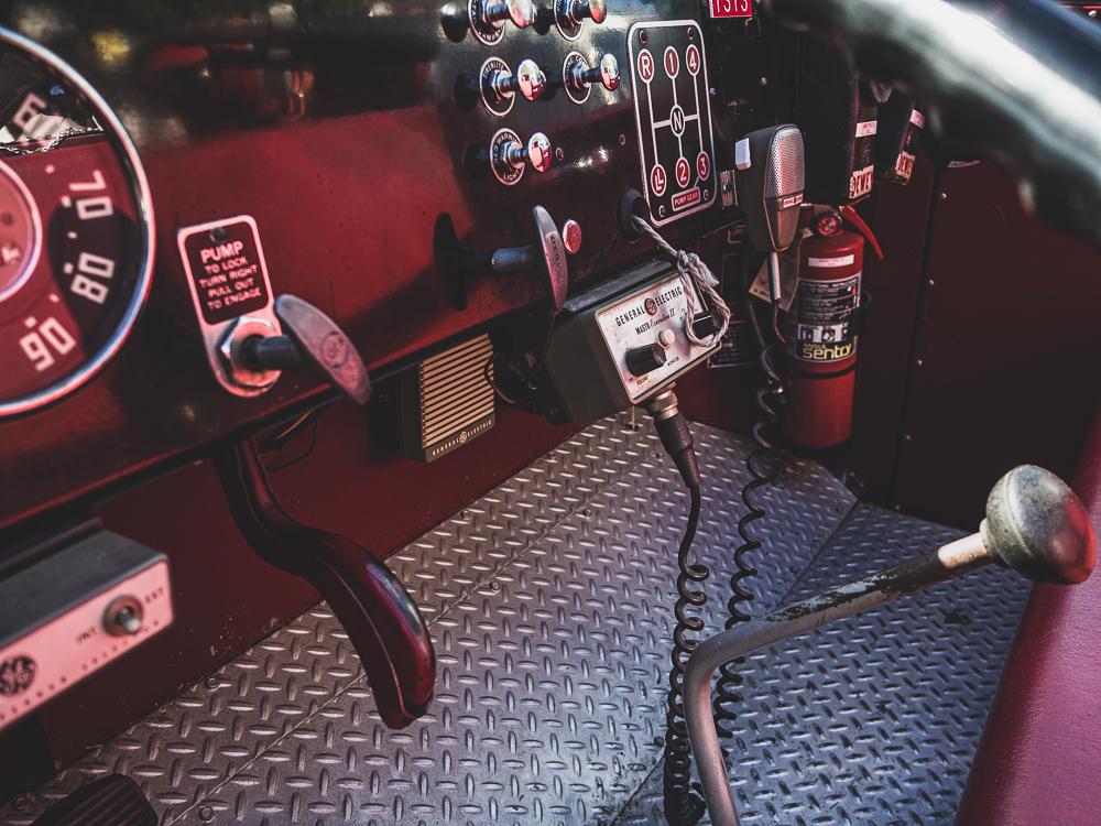 firetruck interior front panel