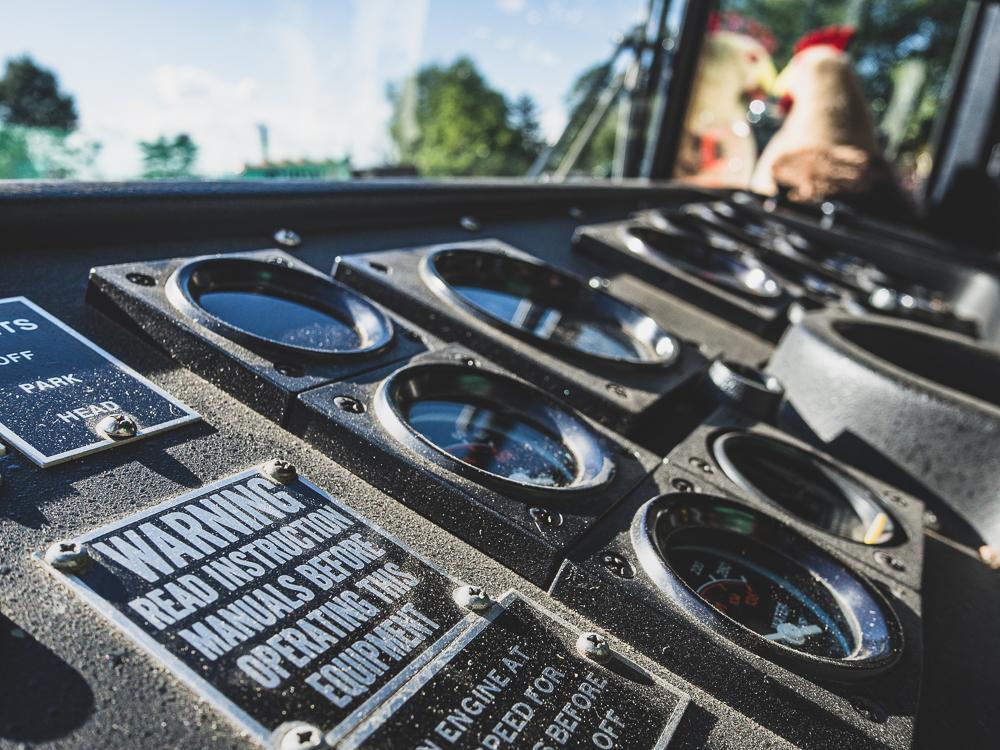 firetruck gauge panel