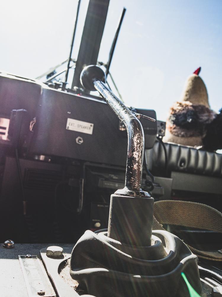 firetruck gear shifter detail