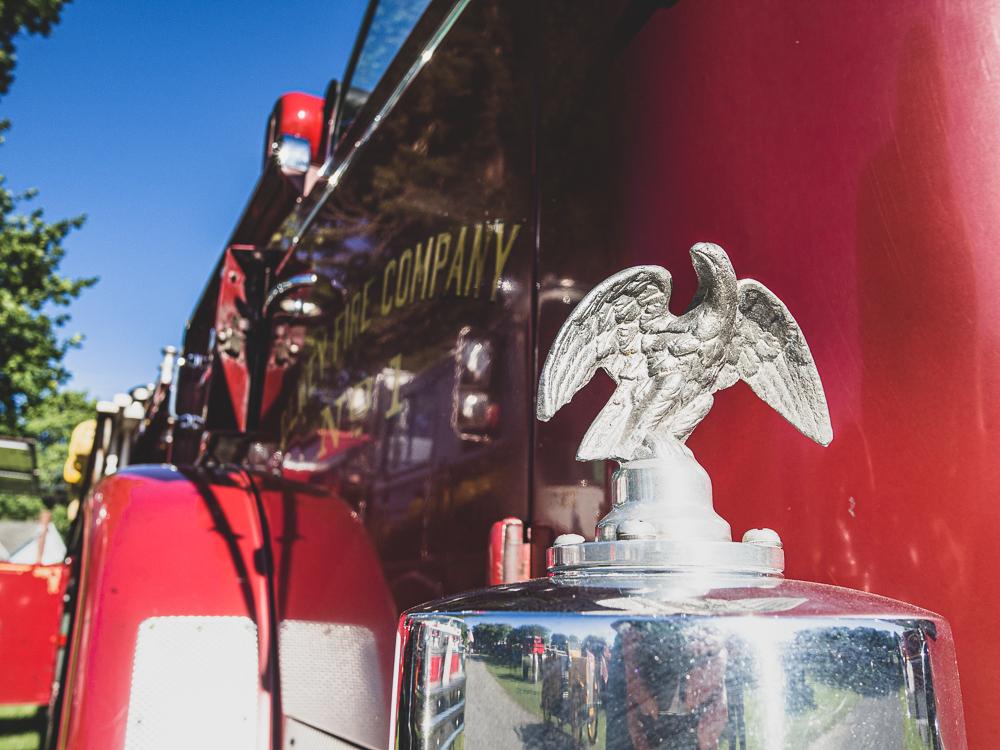 firetruck bell eagle detail