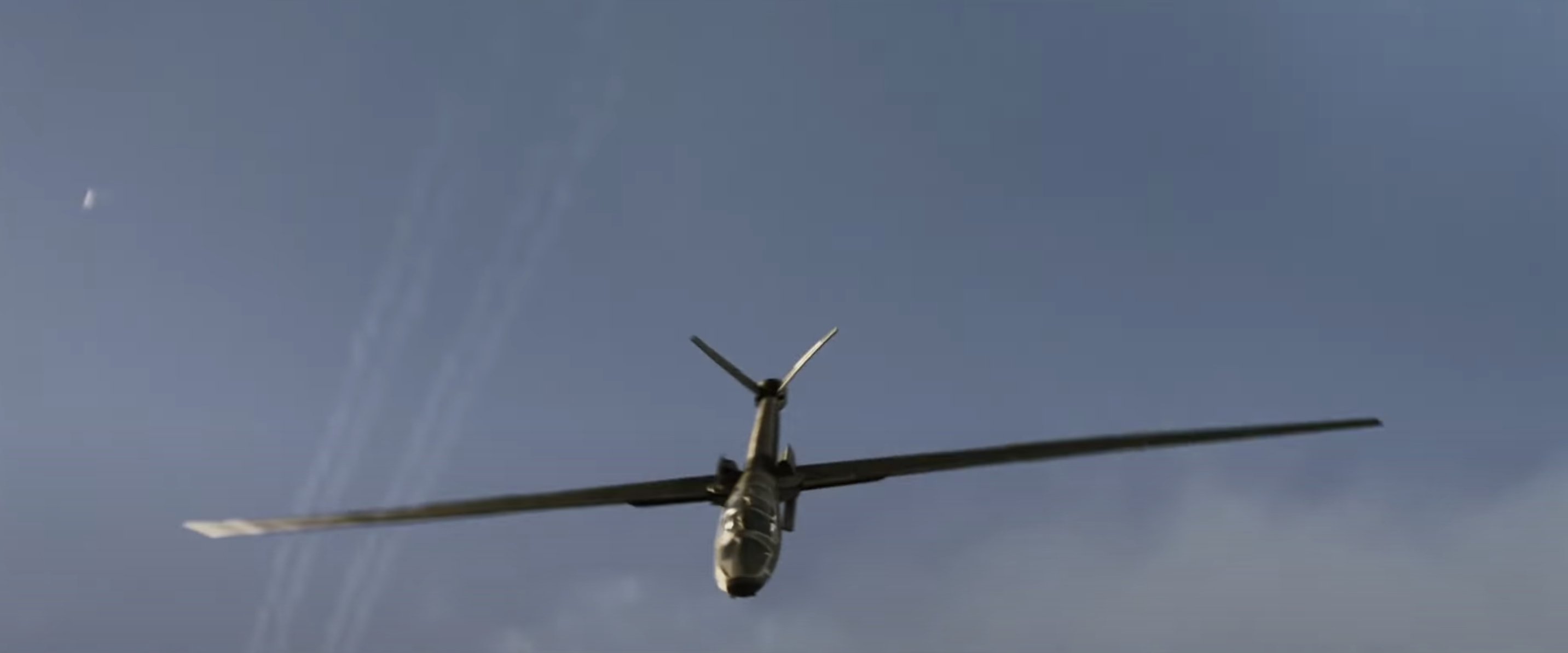 No Time to Die James Bond scissor wing plane