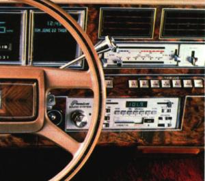1980 Continental Mark VI dashboard