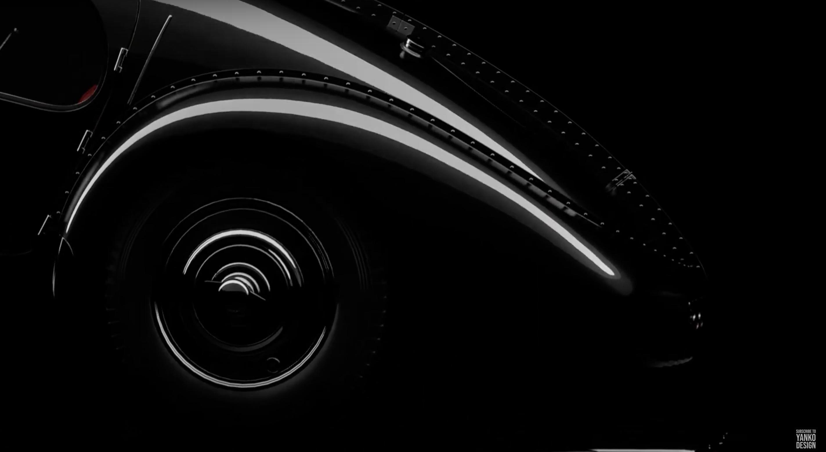 Yanko Design rendering Bugatti concept A