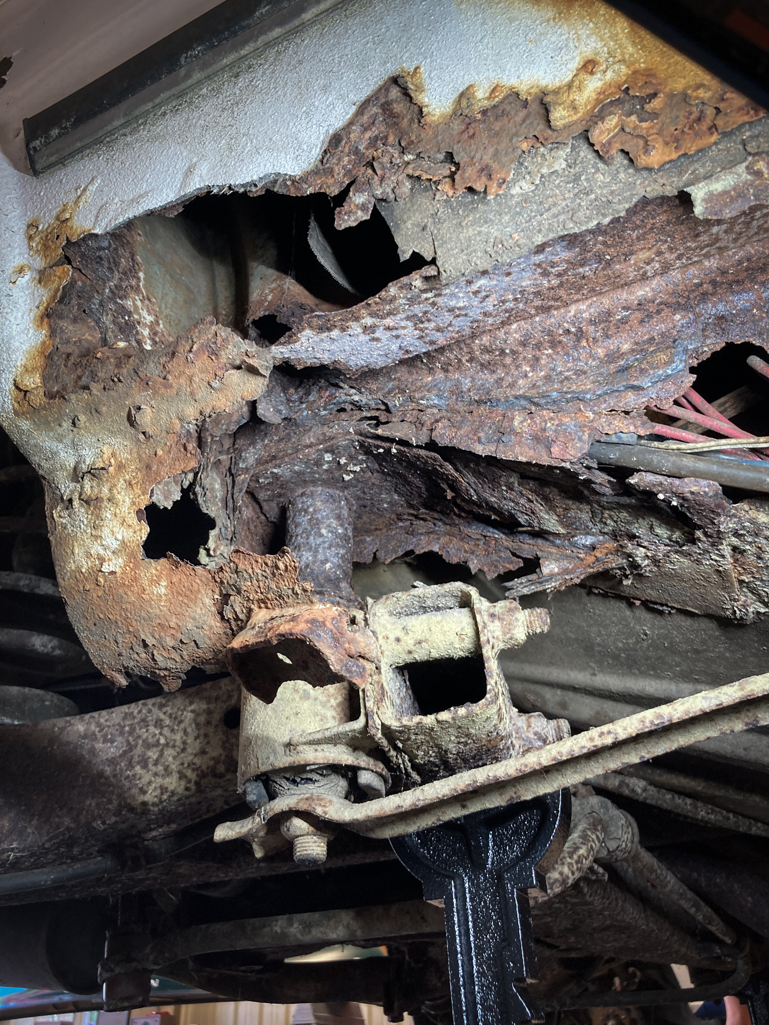 bmw 2002 project car rust rot