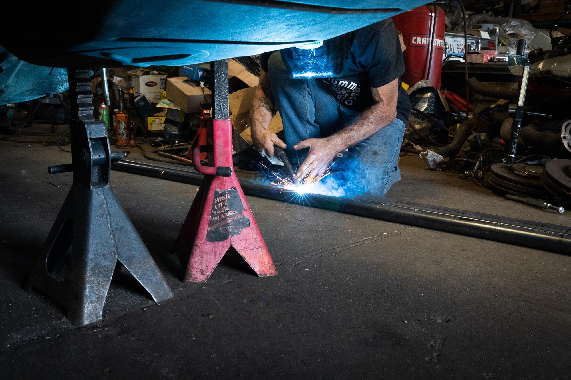 welding structural car rails