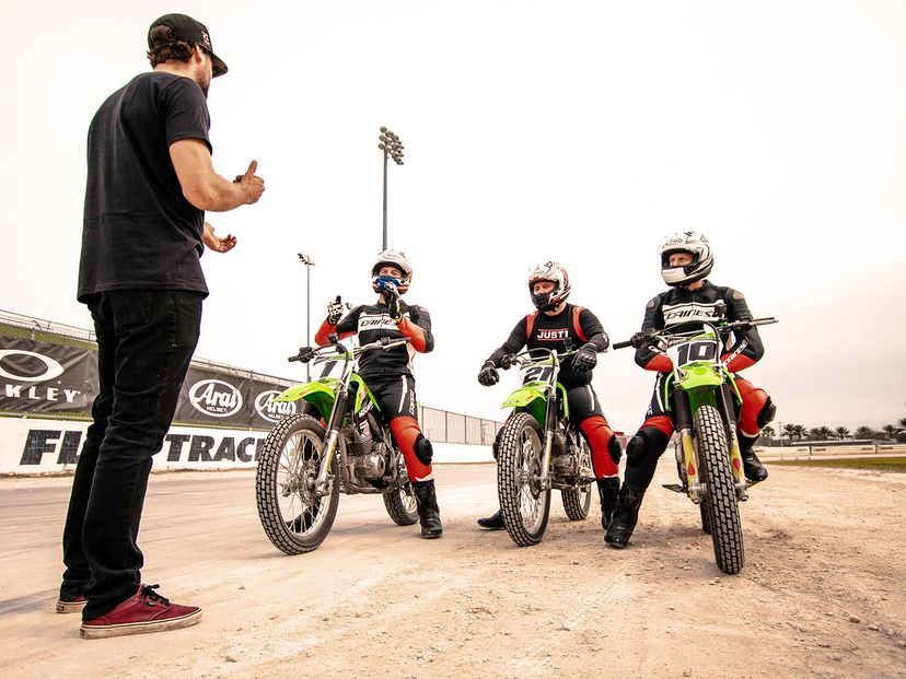 American Flat Track riders get instruction
