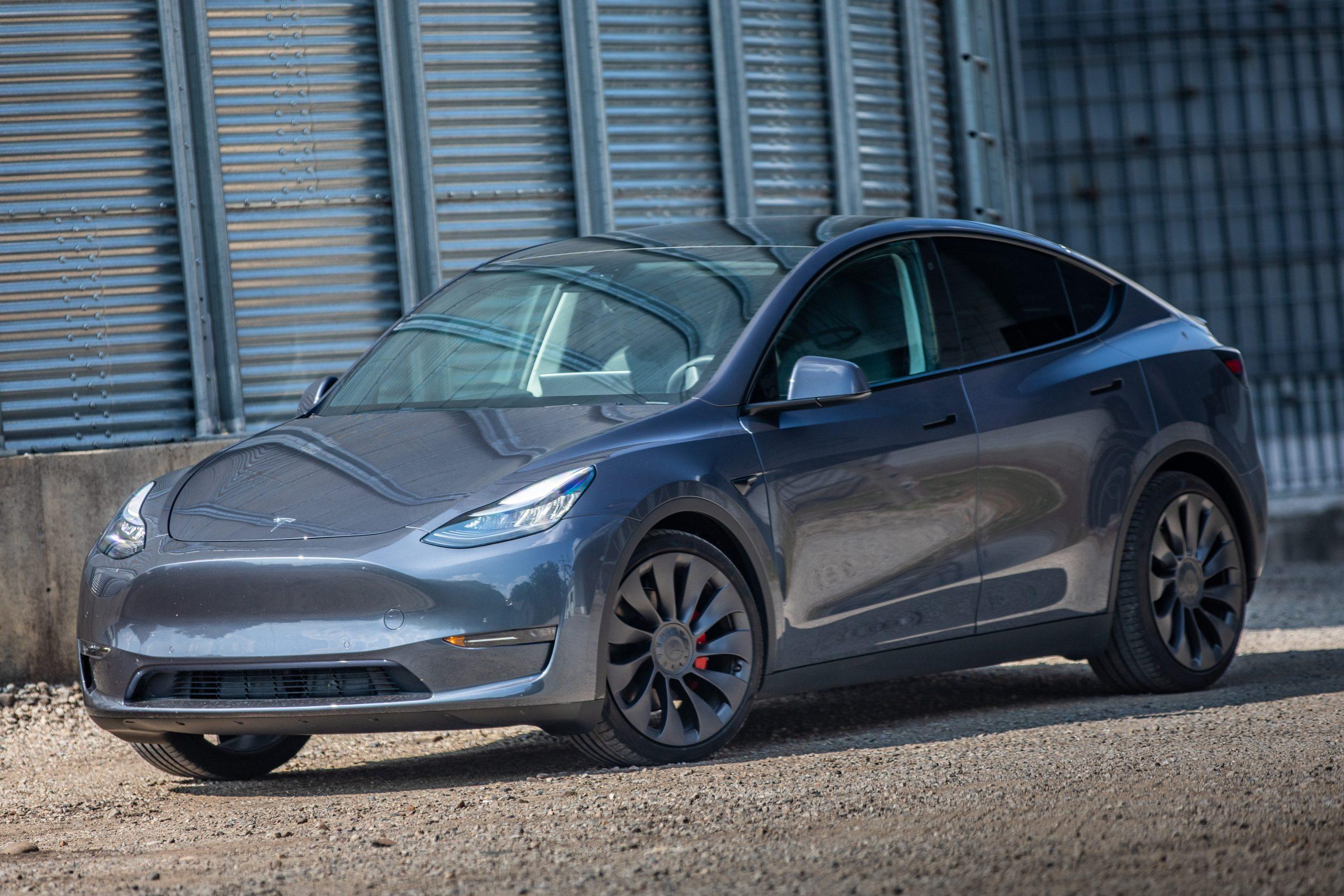Tesla Model Y front three-quarter