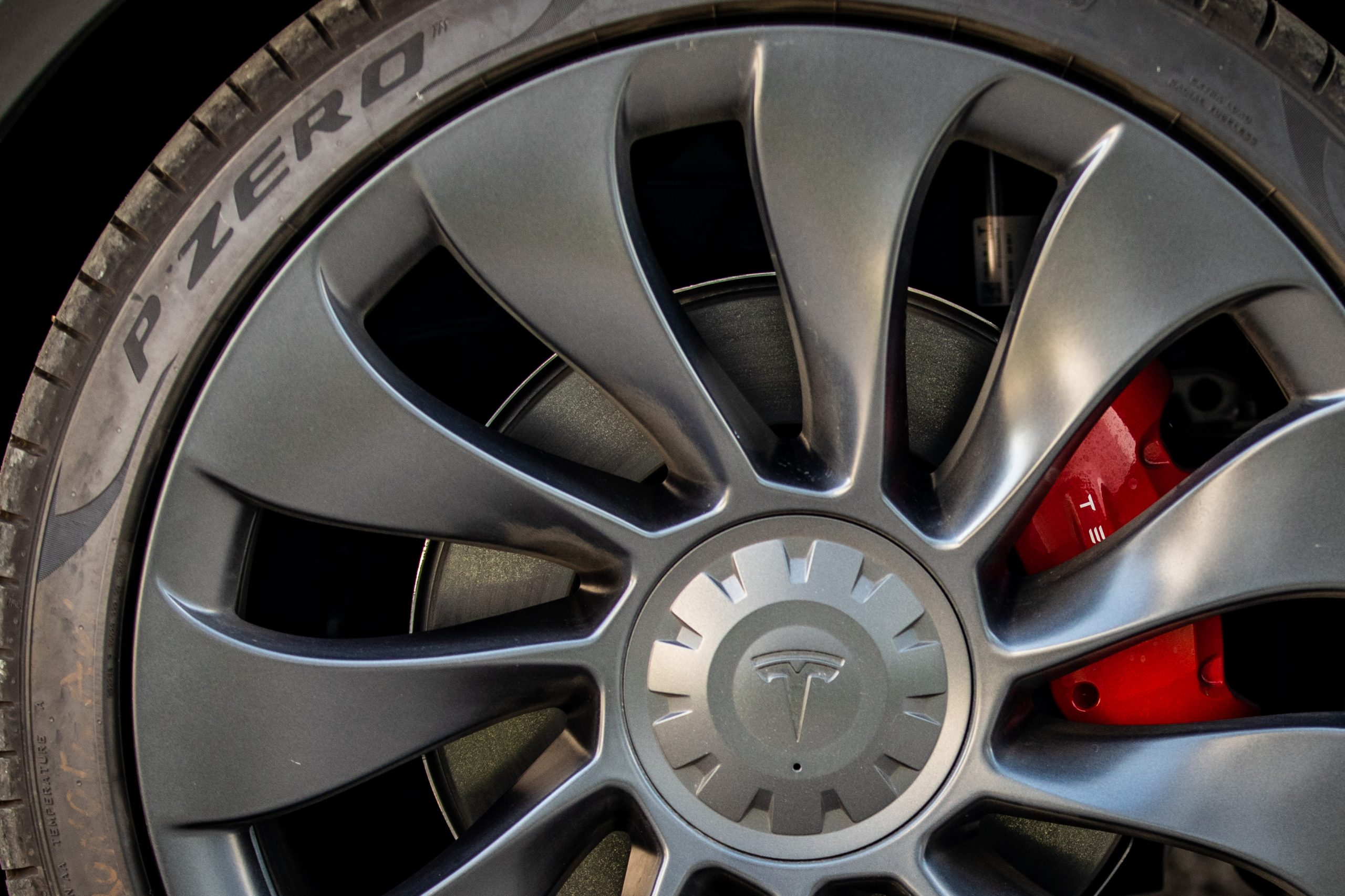 Tesla Model Y wheel close up detail