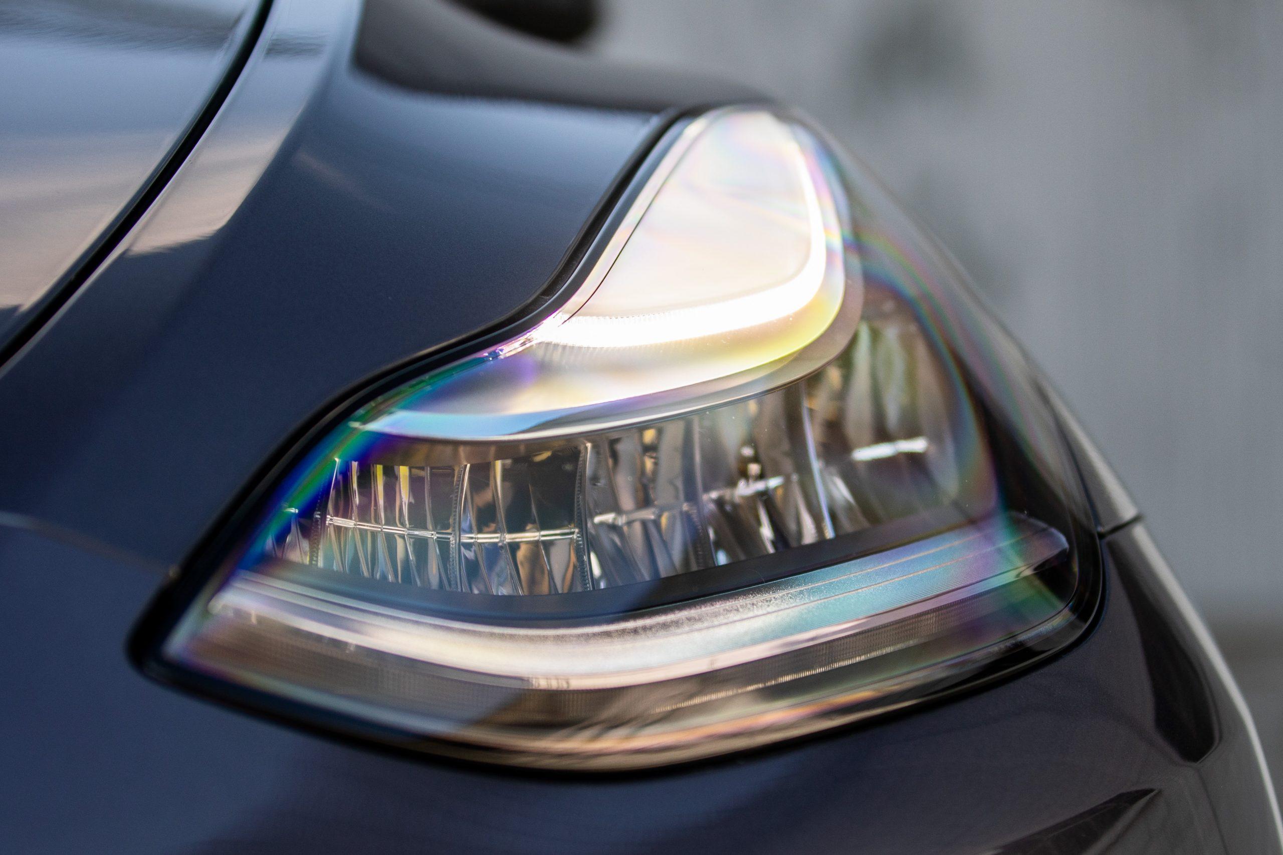 Tesla Model Y headlight detail