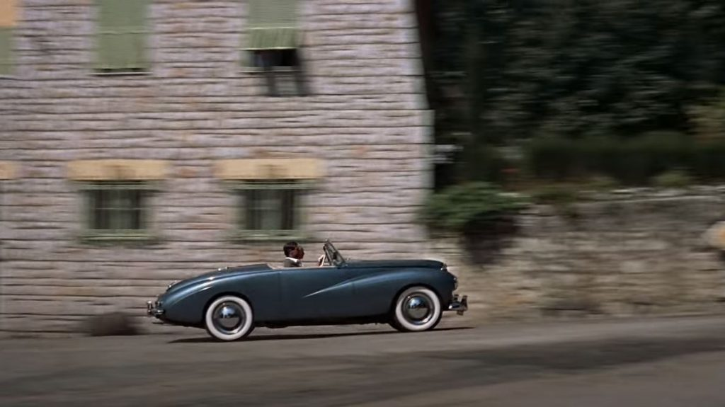 To Catch a Thief - 1953 Sunbeam Alpine - On the road passenger side