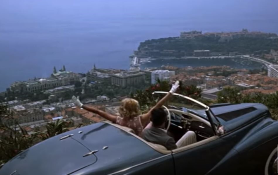 To Catch a Thief - 1953 Sunbeam Alpine with Grace Kelly and Cary Grant - High above Monaco