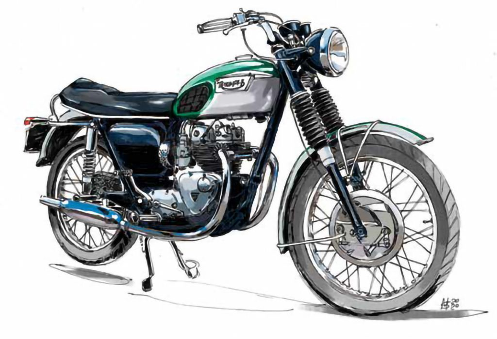Triumph motorcycle illustration