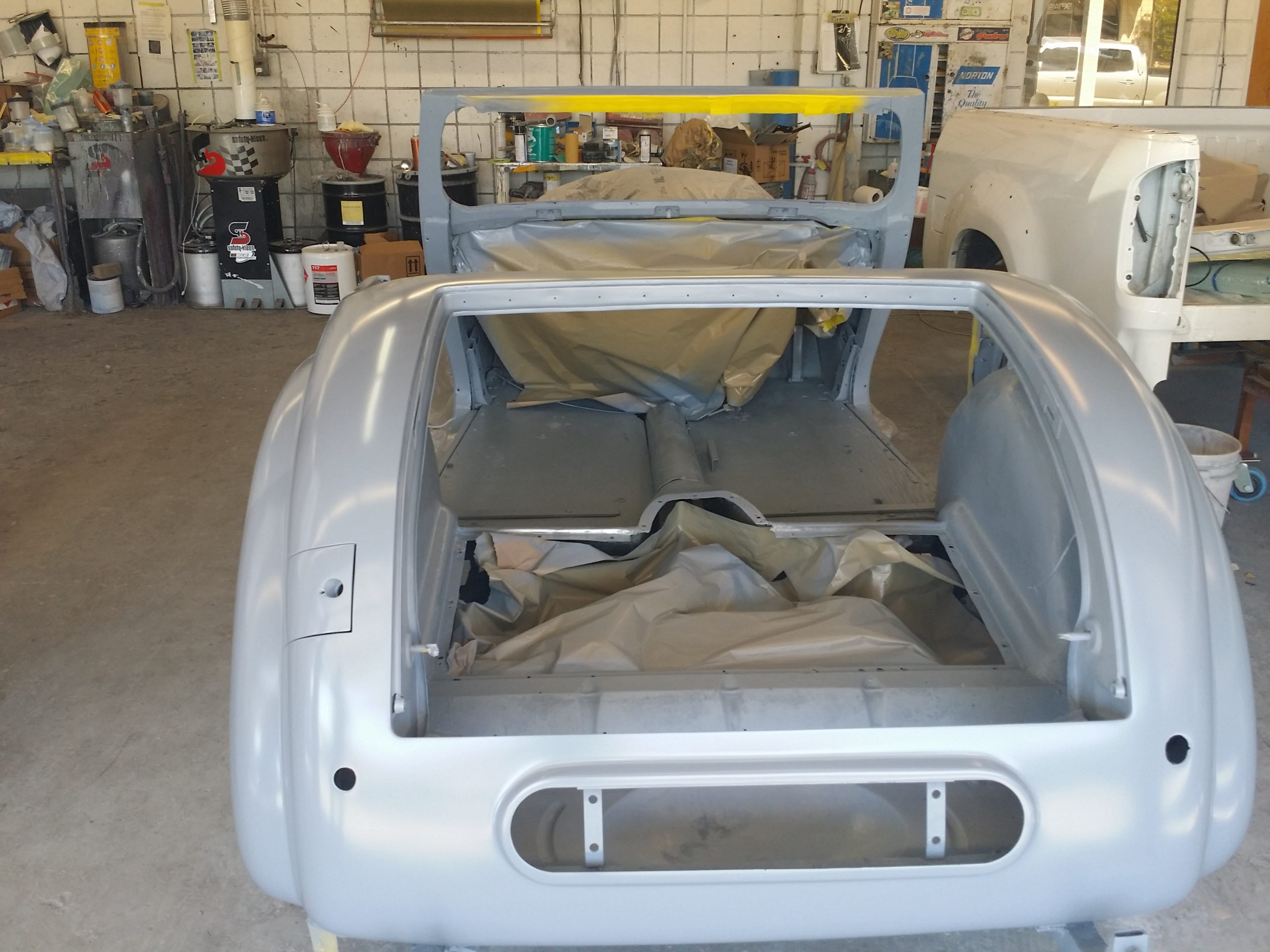 triumph roadster restoration body rear