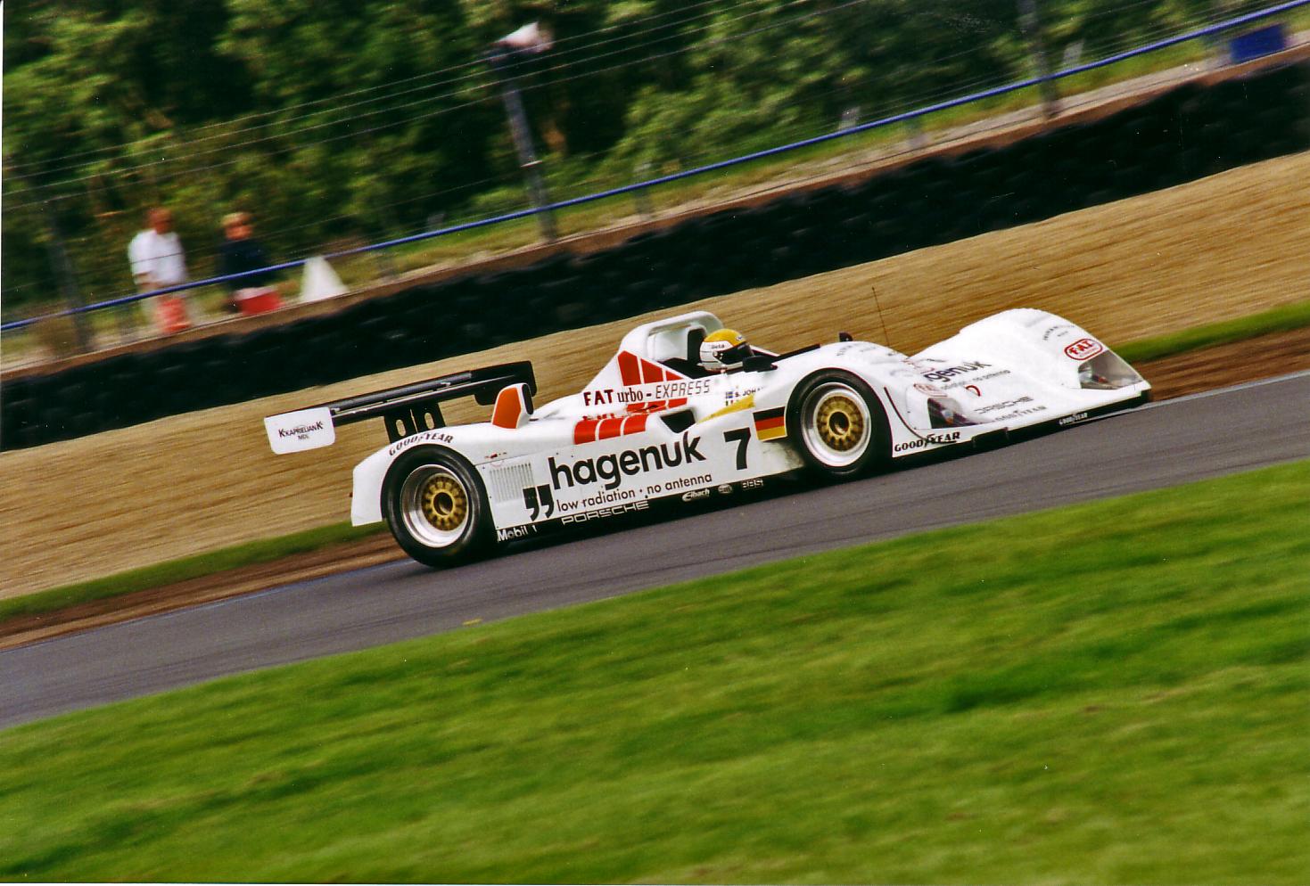 Joest Porsche dynamic track action