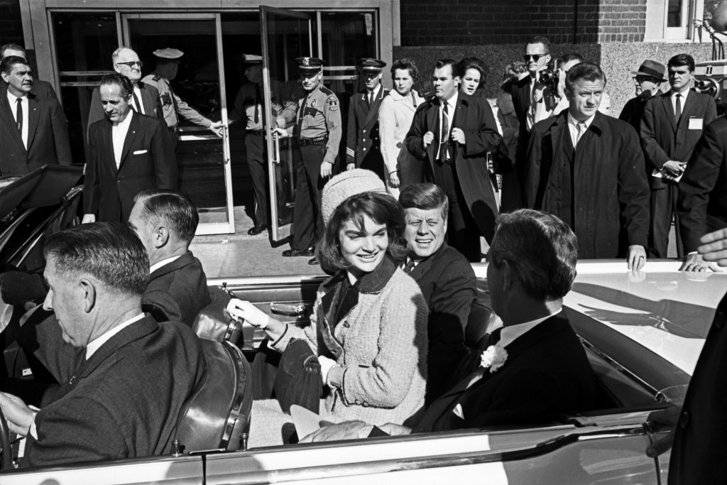 john jackie kennedy rear seat lincoln continental limo