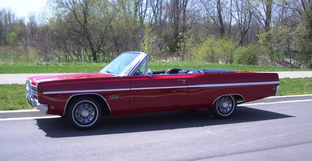 1968 Plymouth Fury convertible profile
